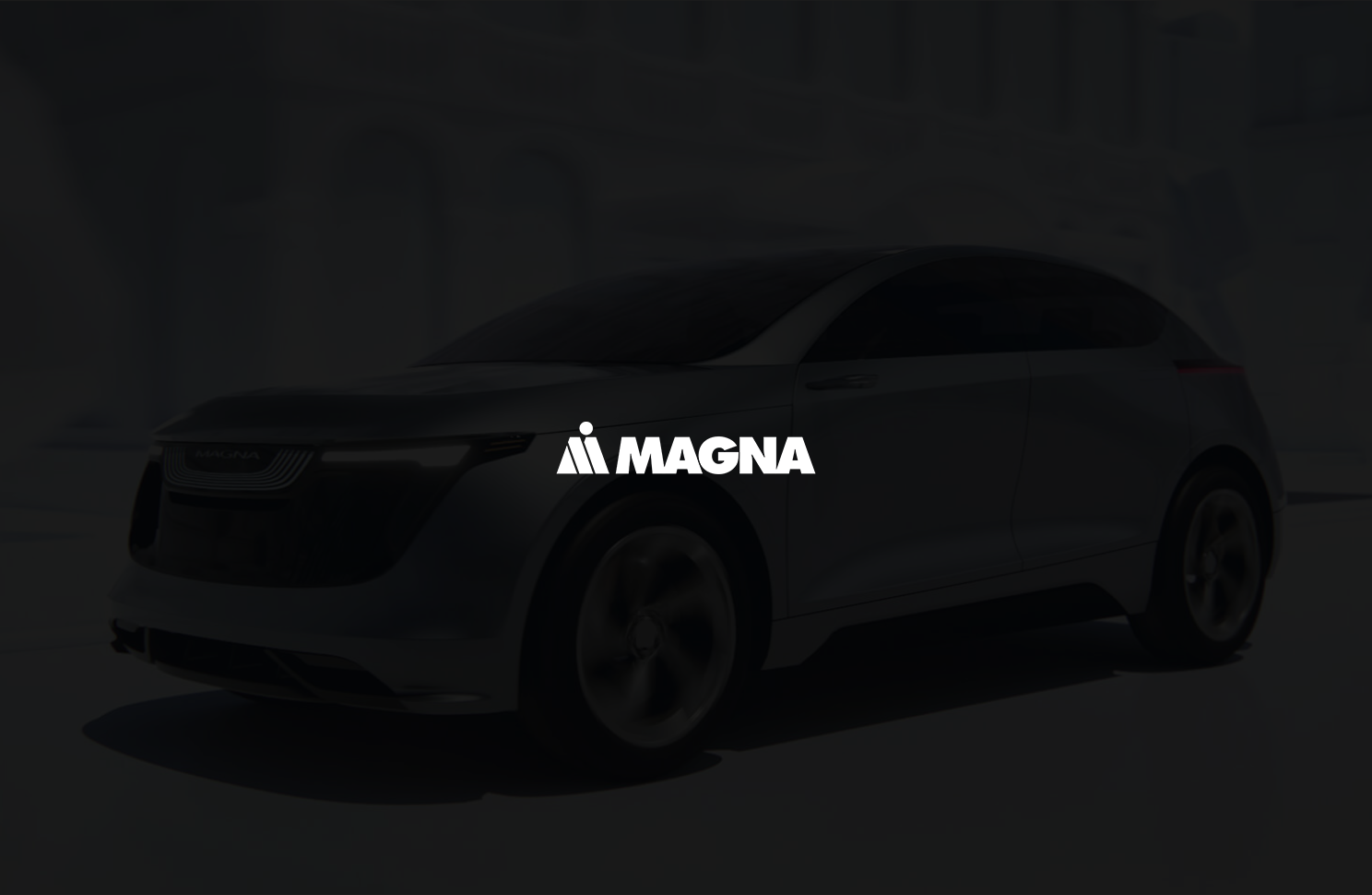 Magna logo on a dark backgroud